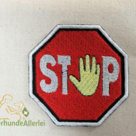 Stopp-Hand hell