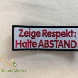 Zeige Respekt: Halte ABSTAND!