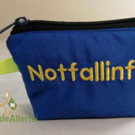 Blaue Notfalltasche