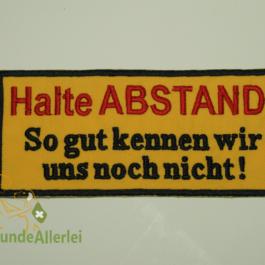Halte ABSTAND …
